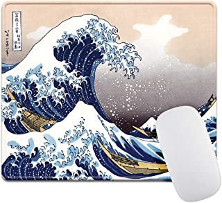 Thick 4mm Gaming Mouse Pad - Personality Mouse Pads with Design - Non Slip Rubber Mouse Mat (The Great Wave)