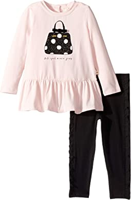 Kate Spade New York Kids - Dot Handbag Leggings Set (Infant)