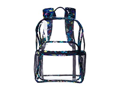 Vera Bradley Clearly Colorful Large Backpack (Moonlight Garden) Backpack Bags