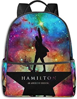 IIIUUbhswb Hamilton Kids Bags, Boys and Girls Durable Anti-Theft School Backpack with Adjustable Padded Back Straps