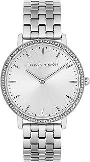 Rebecca Minkoff Women's Quartz Watch with Stainless Steel Strap, Silver, 16 (Model: 2200347)