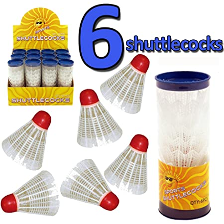 Plastic Suitable for Kids or Adult Indoor and Outdoor Sports DK-tre Simple Colorful Badminton Shuttlecocks Random Color