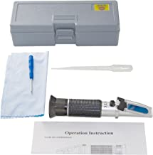 Homebrew Guys Best Value Refractometer Kit (0-32 BRIX) with Automatic Temperature Compensation. Easily Measure Sugar levels of Juice, Home Brewing Beer and Wine Making. Complete with all Accessories