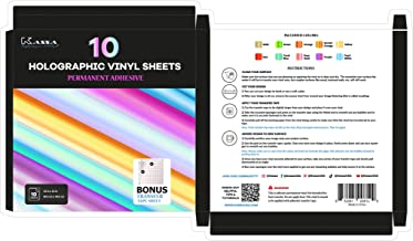 Kassa Holographic Vinyl Sheets (Set of 8)