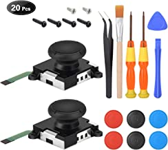 2 Pack 3D Joystick Replacement for Nintendo Switch joycon,Analog Thumb Stick Joy Con Controller Repair Kit, Thumb Joystick Left and Right with Full Repair Tool Set.