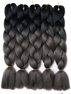 Best black and grey ombre braiding hair Reviews