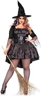 Women's Plus-Size 2 Piece Black Magic Mistress Witch Costume