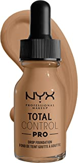 NYX Professional Makeup Total Control Pro Drop Foundation, Caramel 15, 60 gm