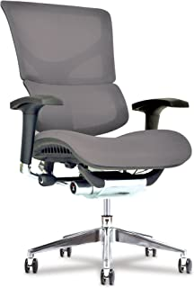 Healthy Back X Chair Office Desk Chair (X3 Grey A.T.R.) Ergonomic Lumbar Support Task Chair Breathable Mesh, Adjustable Arms, Executive, Drafting, Gaming Computer Home or Office Chair