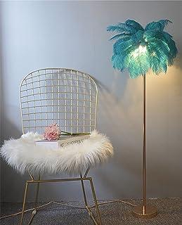 GIOAMH Lampadaire En Plume D'Autruche Naturelle, Lampe Sur Pied Simple Et Moderne Pour Chambre Et Salon, Corps De Lampe Do...