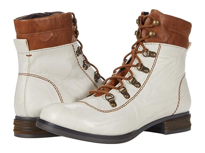 Vintage Boots- Winter Rain and Snow Boots History Josef Seibel Sanja 09 Off-White Kombi Womens Shoes $99.00 AT vintagedancer.com