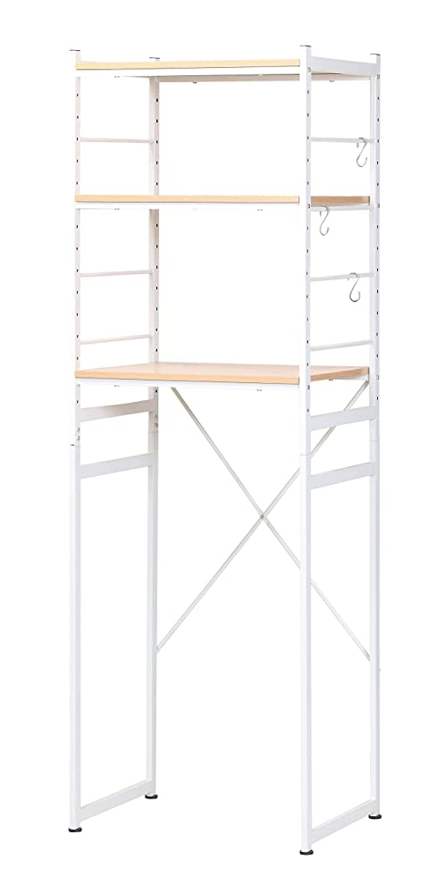 本質的に反対にレコーダーキッチンに収納スペースを増やせる 冷蔵庫ラック 高さ180cm レンジ台 (ナチュラル)