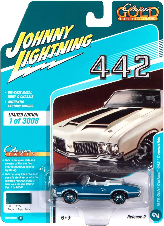 JOHNNY LIGHTNING JLCG022 B 1970 OLDSMOBILE 442 CONVERTIBLE 1//64 MATADOR RED