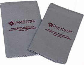 Pro Size Polishing Cloth Set of 2 Large Jewelry Cleaning Cloths  100% Cotton  Made in USA for Gold Silver and Platinum Jewelry Coins Watches and Silverware  Tarnish Remover  Keep Jewelry Shining
