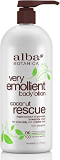 Alba Botanica Very Emollient Coconut Rescue Body Lotion, 32 oz.