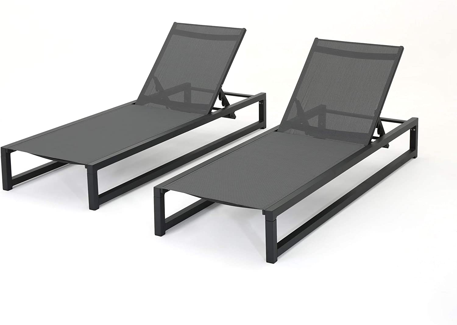 Christopher Knight Home Louisville-Jefferson County Outstanding Mall Modesta Outdoor Framed Chaise L Aluminum