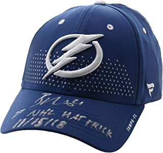 Brayden Point Tampa Bay Lightning Autographed Blue Fanatics Cap with