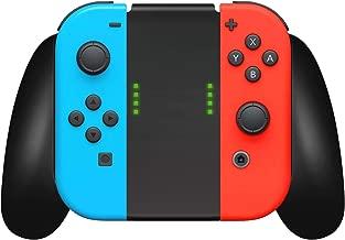 Nintendo Switch Controller Joycon Comfort Grip by TalkWorks | Switch Game Accessories Handheld Joystick Remote Control Holder Joy Con Kit, Black