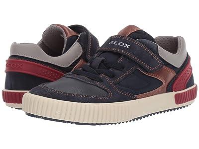 Geox Kids Jr Alonisso 40 (Big Kid) (Navy/Red) Boys Shoes