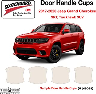 YelloPro Custom Fit Door Handle Cup 3M Scotchgard Anti Scratch Clear Bra Paint Protector Film Cover Self Healing PPF Guard Kit for 2017 2018 2019 2020 Jeep Grand Cherokee SRT, Trackhawk