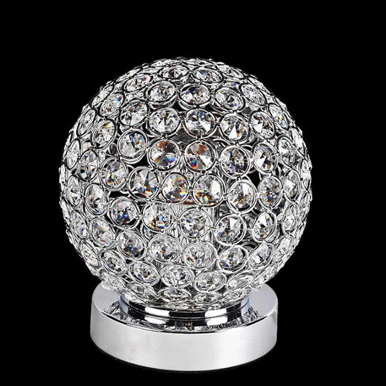 Moderne Einfachheit Lichter Einfache Stil Edelstahl Lampe Kristall Kugel Tischlampe Aufgabe Licht Innen Deko Lampe Nachttischlampe für Schlafzimmer Cafe Bars E27, BOSSLV