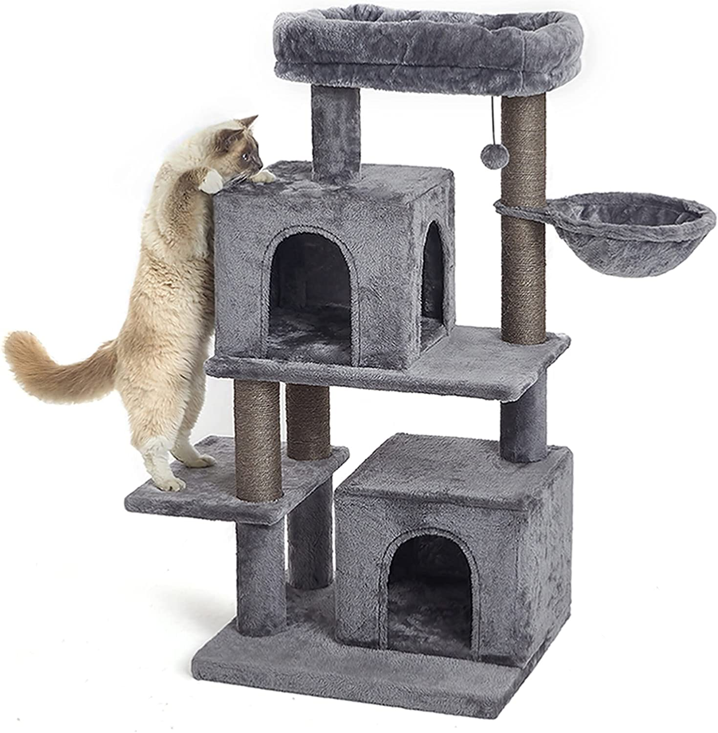 Max 48% OFF 45 Inches Multi-Level Furniture Cat Tower New products world's highest quality popular