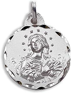 M/édaille Religieuse M/édaille Vierge de Macarena 17 mm Argent Sterling 925 milli/èmes.