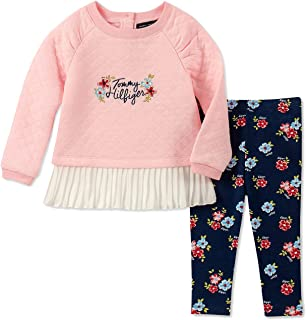 f8c51c4325c Tommy Hilfiger Baby Girls 2-Pc. Quilted Peplum Tunic & Floral-Print Leggings