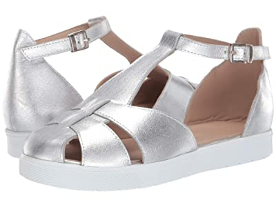 Elephantito T Strap Sandal (Toddler/Little Kid/Big Kid) (Silver) Girls Shoes
