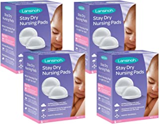 Lansinoh Stay Dry Disposable Nursing Pads, 240 Count (4 Packs of 60), Superior Absorbency, Ultra Soft Leak Protection for Breastfeeding, Non-Toxic Milk Pads, Nursing Essentials