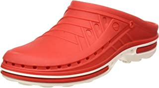 WOCK 中性款成人洞鞋 白色/红色 UK