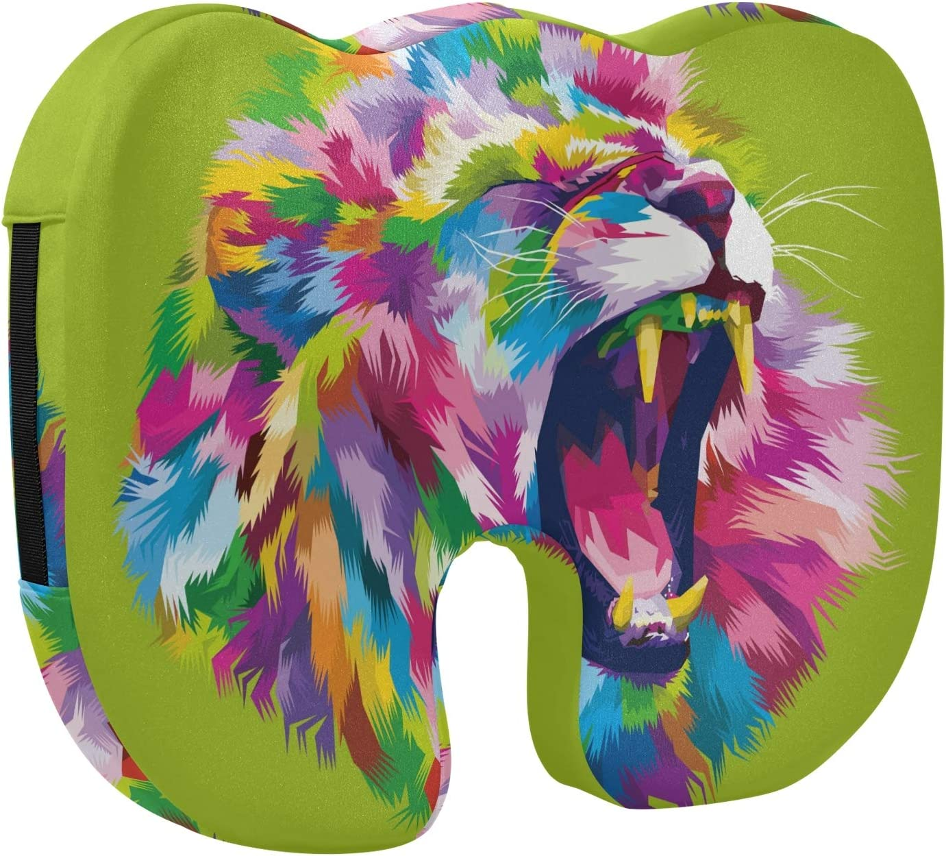 Screaming Lion Cool excellence Direct sale of manufacturer Designed Printed Cu Stretch Memory Seat Foam