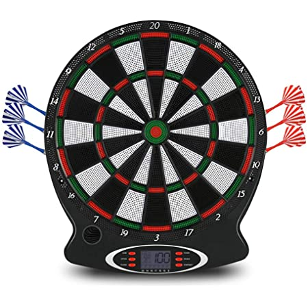 Electronic Dartboard, Digital Soft Tip Dart BoardsLCD Display 15 Inch Target Face 6 Soft Tip Darts Target Board