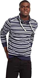 TOM TAILOR Men's Striped Sweatshirt With Snood