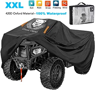 ClawsCover Quad ATV Covers XXL 88 Inches Waterproof Heavy Duty 420D Oxford 4 Wheeler ATC Rain Covers Accessories All Weather UV Protection for Kawasaki Polaris Suzuki Can am and More