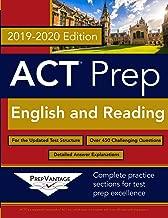 ACT Prep: English and Reading: 2019-2020 Edition