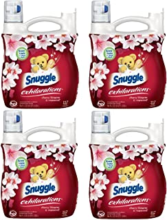Snuggle Exhilarations Liquid Fabric Softener, Cherry Blossom & Rosewood, 96 Fluid Ounces (Pack of 4)