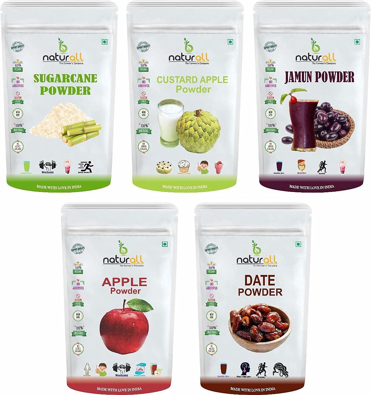 Bluenile B San Antonio Mall Naturall Fruit Pack Powder of Apple 5 OFFicial store Custard