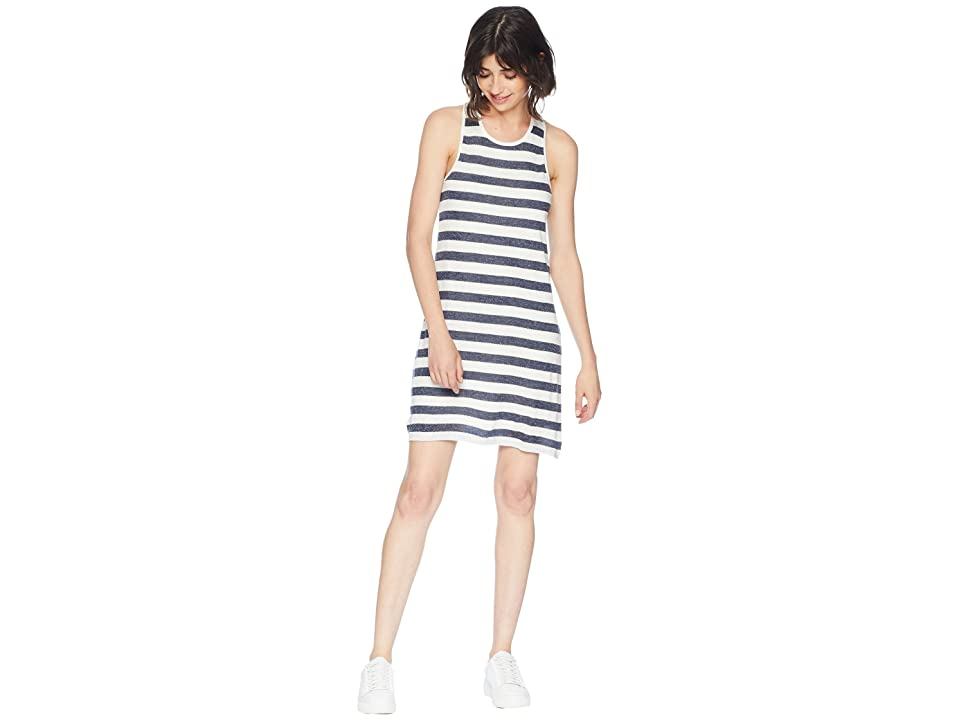Splendid Todos Santos Knit Stripe Dress (Navy) Women
