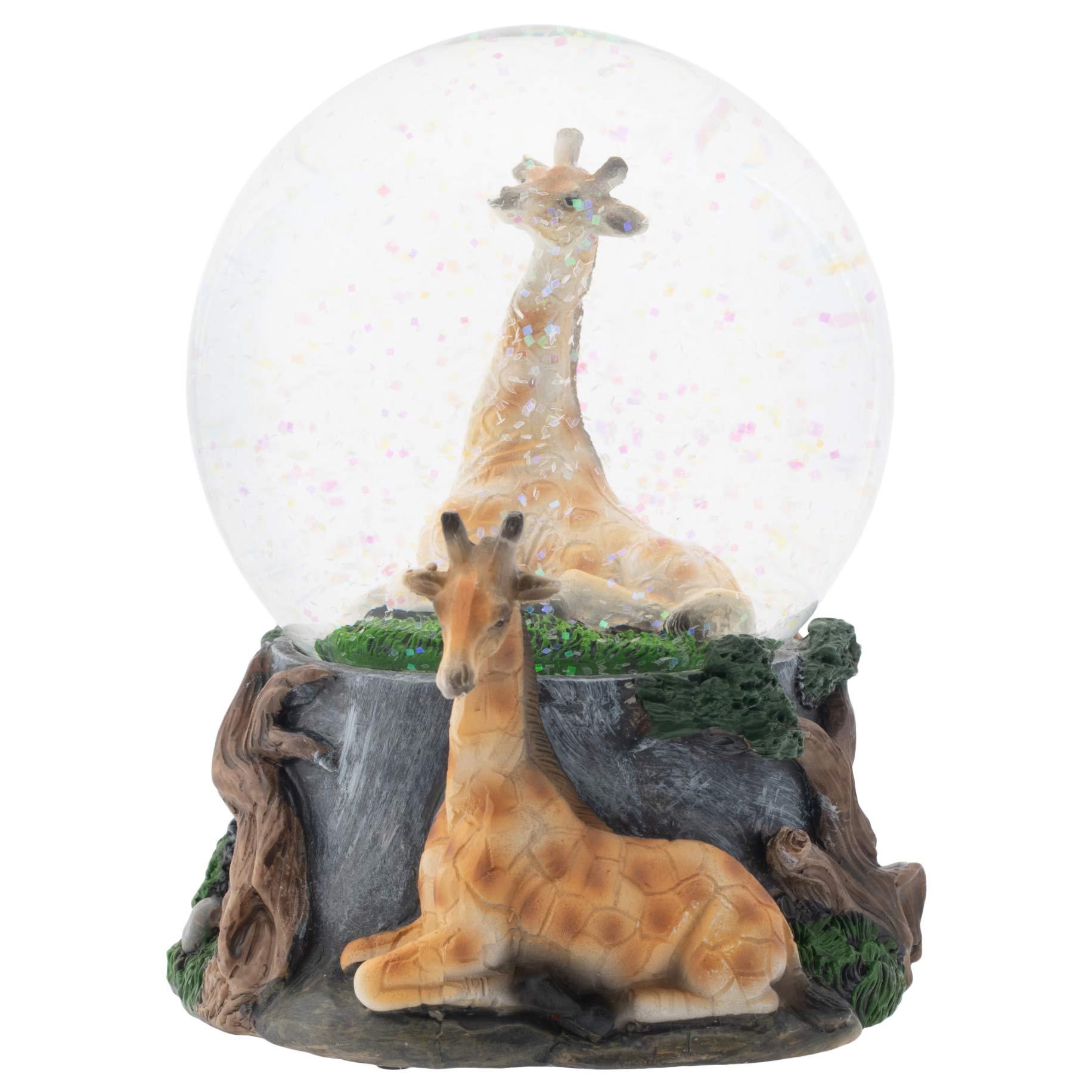 Image of Beautiful Born Free Musical Giraffe Water Globe