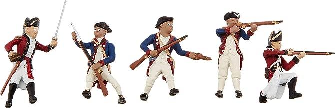 Woodland Scenics SP4454 1.5-Inch Scene Setters Figurine, Revolutionary War Soldiers, 5/Pack