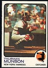 Baseball MLB 1973 Topps #142 Thurman Munson Yankees