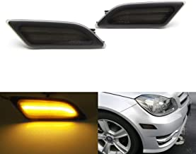 iJDMTOY Smoked Lens Amber Full LED Front Side Marker Light Kit For 2012-14 MercedesW204 LCI C250 C300 C350 Sedan/Coupe, Powered by SMD LED, Replace OEM Sidemarker Lamps