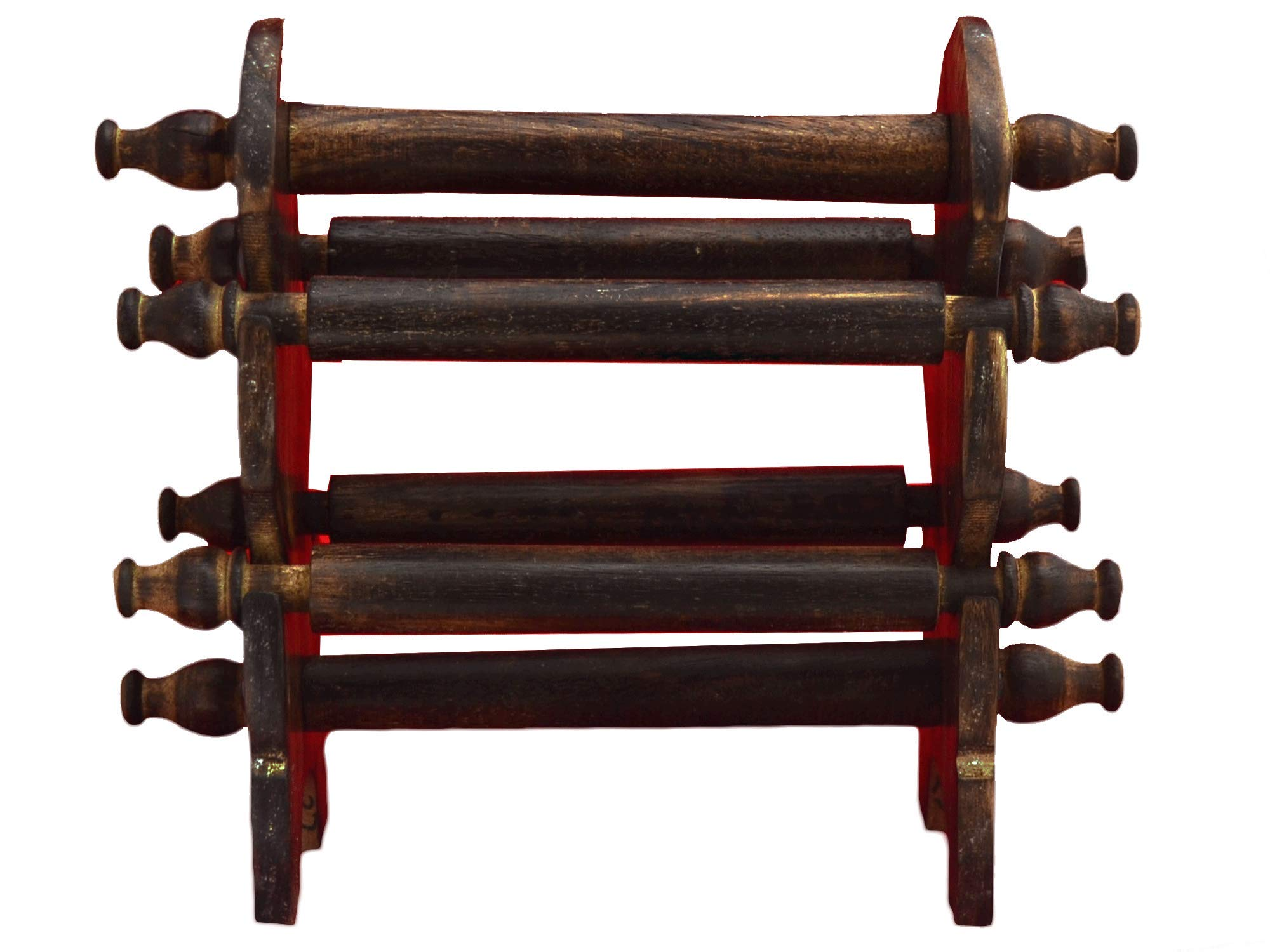 ETROVES 木制手工 6 杆珠宝展示架,塔项链手镯手链手表支架,手镯整理器,家居装饰配饰 24.13 厘米