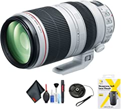 Canon EF 100-400mm f/4.5-5.6L is II USM Lens for Canon EF Mount + Accessories (International Model)
