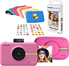 Polaroid Snap Touch Instant Digital Camera (Pink) Protective Kit with 20 Sheets Zink Paper