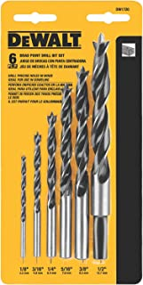 DEWALT Drill Bit Set, Brad Point, 6-Piece (DW1720)