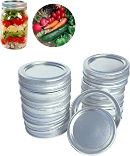 Regular Mouth Mason Jar Lids and Bands, Canning Lids and Ring Professional, Leak Proof and Secure,(14 Sets)