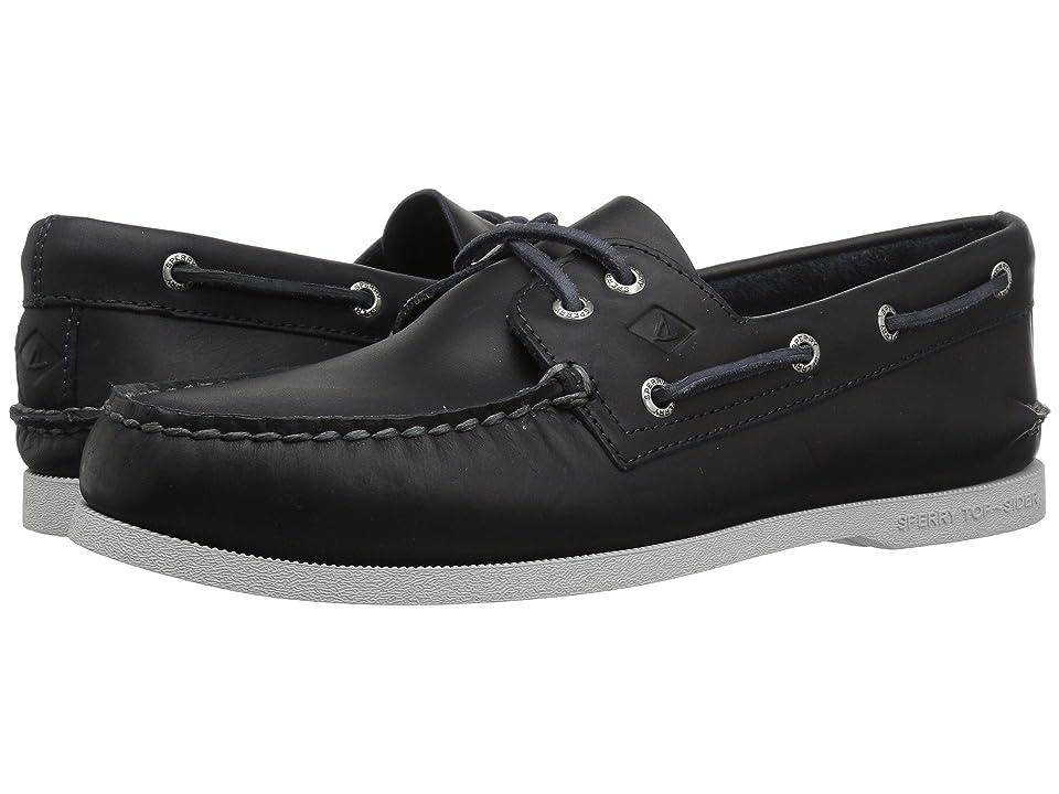 Sperry A/O 2-Eye Richtown Pullup Boat Shoe (Navy) Men