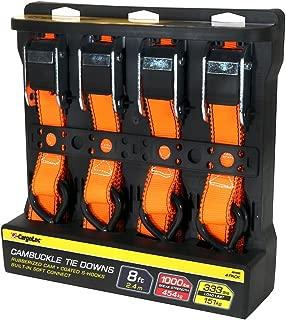 CargoLoc 42469 4 PCS 8' CAM-Buckle TIE Downs/ 1,000 LBS Orange